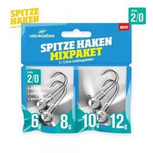 Vorschau: Spitze Haken 2/0 Mixpaket