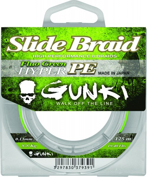 Slide Braid 125m Fluo Green Hyper PE