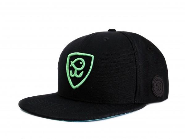 CREW Snapback Cap Black